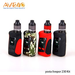 sub boxes NZ - 100% Original Yosta Livepor 230 Kit TC 230w Box Mod 4ml IGVI P2 Sub Ohm Tank Power by dual 18650 batteries