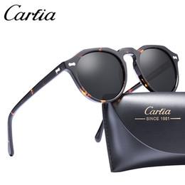c0e6890dec New Brand Unisex Retro Oval Sunglasses for men polarized frame fashion high  quality Acetate Women Sunglasses CARFIA 5266 50mm with box