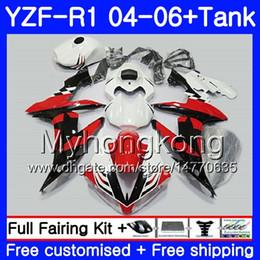 Star compreSSion online shopping - Body Black stars red hot Tank For YAMAHA YZF R YZF YZF YZFR1 HM13 YZF1000 YZF R1 YZF R1 Fairing