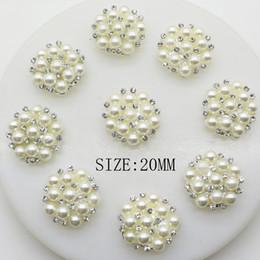 $enCountryForm.capitalKeyWord NZ - NEW30pcs lot 20mm Round Rhinestones Buttons Pearl Snap Flatback Button Snap With Flower Wedding Hair Embellishment Scrapbooking