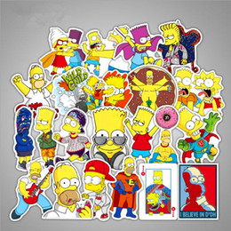 laptop cartoon Australia - 50pcs Lot Anime Cartoon Simpson Mixed Car Stickers For Motorcycle Laptop Sticker Decal Fridge Skateboard PVC Stickers For Travel Suitcas