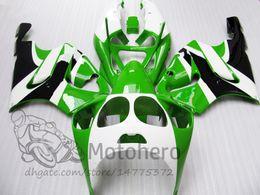 1998 Ninja Zx7r Fairings Australia - 3Gifts fairing kits For KAWASAKI NINJA ZX7R 1996 1997 1998 1999 2000 2001 2002 2003 ZX7R 636 96 97 98 99 00 01 02 03 green white black body