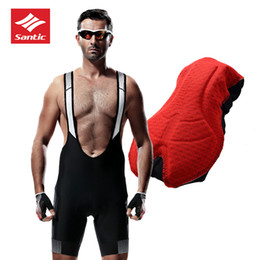 $enCountryForm.capitalKeyWord NZ - 2018 SANTIC Bicycle Bib Shorts Men 4D Padded Breathable Quick Dry Bib Shorts MTB Mesh Cycling Outdoor Base Layer Maillot Bibs