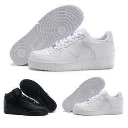 sale retailer 8c344 87f55 nike air force 1 one af1 2018 zapatos clásicos MID 07 One Hombre Mujer  Zapatos casuales 1 Negro Blanco Zapatillas deportivas Negro Casual  Skateboard ...