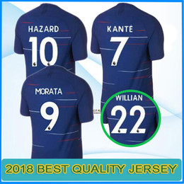 2018 2019 HAZARD soccer jersey 18 19 MORATA HOME BLUE KANTE DIEGO COSTA  FABREGAS WILLIAN PEDRO DAVID LUIZ football shirt b1c7b0b2e