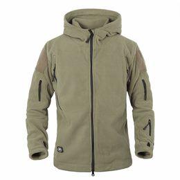 866c97de780 Military Men Fleece Tactical Soft shell Jacket Polartec Thermal Polar  Hooded Jacket and Coat Men Clothes AG-YCIDL-001 S18101804