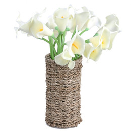Fake lilies Flowers online shopping - Mini PU Fake Flowers Calla Lily Artificial Plants Party Wedding Bouquets Decorations Designs Home Decor cm cm