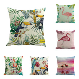 $enCountryForm.capitalKeyWord UK - Square Linen Decorative Pillow Covers Fashion Printed Indoor Outdoor Home Sofa Throw Pillow Slip Office Chair Pillow Case BH18044