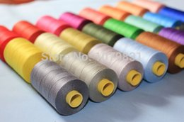Wholesale 100 cotton thread yards x cones each set as hand machine cotton sewing thread European quality