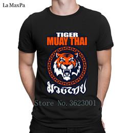 Novo Lazer T Shirt Primavera Tigre Muay Thai Tailândia Arte Marial T-Shirt Dos Homens Popular Divertido Tshirt Dos Homens Plus Size Camiseta presente venda por atacado