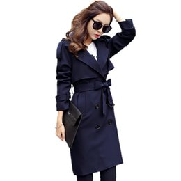 423dab506752f 2018 New Women Casual Coats Spring Autumn Fashion Turn Down Collar Double  Breasted Overcoat Plus Size Loose Trench Coats C170