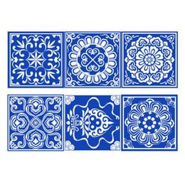 $enCountryForm.capitalKeyWord UK - New 6pcs set Retro Tiles Wall Stickers Waterproof Anti Oil PVC Wall Stickers Dirty Proof Bedroom Kitchen Bathroom Decoration