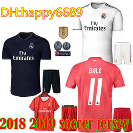 f654ab055 2018 Real madrid Adult soccer Jersey Full Sets Youth Men kit 18 19 home  camisetas de futbol JAMES BALE football shirt