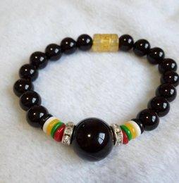 Китай природный черный и драгоценный камень нефрит бисером браслет бесплатная доставка C6 на Распродаже