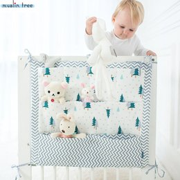 BaBy Bedding for cots online shopping - Muslin Tree Bed Hanging Storage Bag Baby Cot Bed Brand Baby Cotton Crib Organizer cm Toy Diaper Pocket for Crib Bedding Set