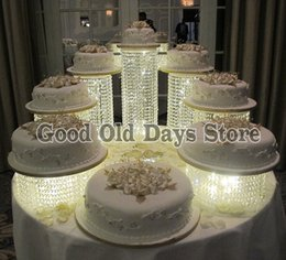 $enCountryForm.capitalKeyWord Australia - 7pcs Acrylic Cupcake Cake Round Cupcake Holder Stand for Wedding Birthday Party Christmas Decor Big discount cake Display Stands