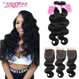 $enCountryForm.capitalKeyWord NZ - Double Weft Weave Remy Indian Hair Body Wave Human Hair Extension 2 Bundles With 4x4 Lace Closure 8-28inch Natural Color From Li Queen