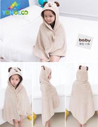 $enCountryForm.capitalKeyWord Australia - 2018 New Cartoon Children Hooded Bathrobe Bath Towel Baby Coral Fleece Receiving Blanket Baby Boy Girl Bath Towel Beach