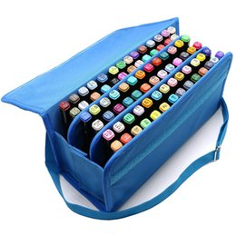 Chinese  80 slots oxford school art student marker pen storage bag sketch tools organizer case large capacity handbag container manufacturers