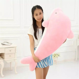 giant pink stuffed animals Australia - Giant Dolphin Stuffed Animal Plush Toy Gift Best Birthday Gifts Business Gifts
