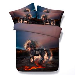 Pink Linen Quilt Cover NZ - 3D horse Duvet Cover bedding set panda Bedspreads panda Holiday cat dog Quilt Covers Bed Linen Pillow Covers comforter cover pillow shams