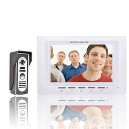 Discount free video phone - FREE SHIPPING 7 Inch Video Door Phone Doorbell Intercom Kit 1-camera 1-monitor Night Vision