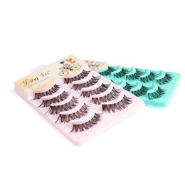 $enCountryForm.capitalKeyWord UK - 100 set False Eyelashes Black Cross Fake Eyelash Natural Long Make up Eye lash Extensione Fake Eyelashes Free Shipping