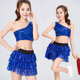 3d4e7cf8c6d89a 2018 Nightclub Sports Fans Cheerleader Team Costume DS Costume Sexy Korea  Style Cosplay Uniform Party Outfit Tops with Skirt 8510