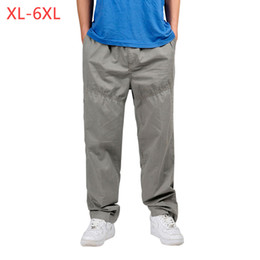 baggy summer trousers UK - XL-6XL Summer Autumn Men's Outdoors Jogger Cargo Pants Plus Size Male Baggy Tactical Combat Brand Trousers Many Pockets 3XMR24