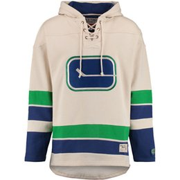 Men s Old Time Hockey Vancouver Canucks Blank Custom Jersey Hoodie  Authentic Hoodies Jerseys Winter Sweatshirts Blue Cream Shirts 94635851f