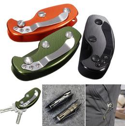 EDC Anahtarlık Çok Aracı Hafif Katlama Tuşları Kelepçe Anahtar Organizatör Tutucu Cep Alüminyum Anahtar Bar EDC survival dişli