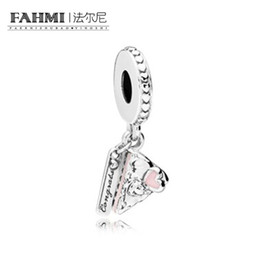 Celebration Bracelets Australia - FAHMI 100% 925 Sterling Silver 1:1 Genuine Charm Celebration Cake Pendant Fit DIY Bracelet Original Jewelry Women Fashion Jewelr