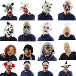 Wholesale Halloween Horrible Clown Masks for Masquerade Party Scary Clowns Mask Festival Party Supplies Latex Mask Horrifying