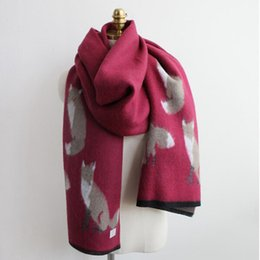 thick warm blankets 2019 - Women Winter Scarfs Luxury Brand Cashmere Scarf Fox Thick Warm Scarves Femme Blanket Scarf Sjaals Ladies Feminino Foular