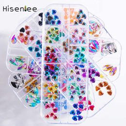 $enCountryForm.capitalKeyWord UK - 12Grid Fashion Heart Shape Gold Silver Mini Studs Broken Glass Stones Sweet Caviar Rhinestone Glitter Powder Nail Art Decoration