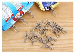 Wholesale Clothes Clips Stainless Steel Pegs For Socks Photos Hang Rack Parts Practical Portable Holder Accessories Snack bag holder