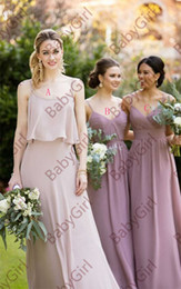 $enCountryForm.capitalKeyWord NZ - A crisscross ruched bodice and slim flowing skirt create a romantic and dreamy bridesmaid dress with floor length