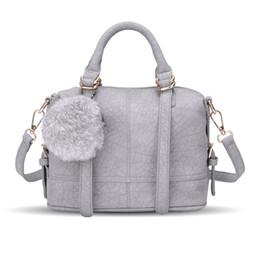 Discount best european phones - Best selling explosions winter ladies wild hair ball Messenger bag fashion shoulder bag Boston bag