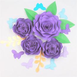 Shop purple paper flower bouquet uk purple paper flower bouquet purple paper flower bouquet uk 2018 set of 4 giant paper flowers 6 leaves 8 mightylinksfo
