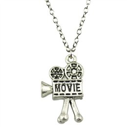 $enCountryForm.capitalKeyWord UK - WYSIWYG 5 Pieces Metal Chain Necklaces Pendants Vintage Necklace Handmade Movie Camera 25x17mm N2-B11591
