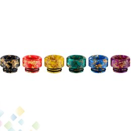 BaBy Bear Box online shopping - TFV8 Epoxy Resin Drip Tip Thread Colorful Drip Tips Wide Bore Mouthpiece for TFV12 TFV8 Big Baby with Acrylic Box DHL Free
