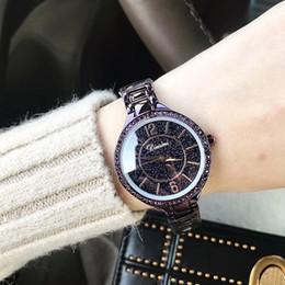 $enCountryForm.capitalKeyWord NZ - DIMINI New Ladies Diamond Stainless Steel Strap Black Star Blast Watch Personalized Fashion Ladies Watch Quartz