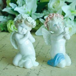 $enCountryForm.capitalKeyWord Australia - Creative ceramic Love Cupid Angel figurines home decor crafts room decoration ornament wedding decoration Fairy dolls for girls