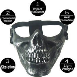 $enCountryForm.capitalKeyWord NZ - new TPU Half Mask Halloween Half Face Skull Protective Mask For Cycling CS Gaming Impact Resistant Wear With Belt