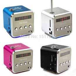 Discount sd card music player portable - mini Digital portable radio FM speaker internet FM radio, USB SD TF card player for mobile phone computer PC music playe