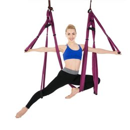 5x2.8m Anti-gravity Yoga Hammock Swing Parachute Fabric Inversion Therapy High Strength Yoga Fitness Gym Hanging Hammock Superior Materials Fitness & Body Building