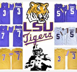NCAA LSU Tigers College 3 Odell Beckham 5 GUICE Jr 33 Odell Beckham Leonard  Fournette 7 Patrick Peterson 7 Tryann Mathieu Jersey football 3b8392f3b