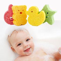 Wholesale Cute Cartoon Baby Bath Sponge Soft Bathing Towel Shower Sponge Lovely Soft Cotton Brush Kids Cotton Infant Skin Care Bath Towel