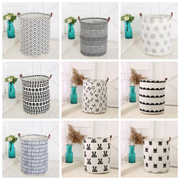 Toy Storage Canvas Bins 2018   Ins Storage Baskets Bins Kids Room Toys  Storage Bags Bucket