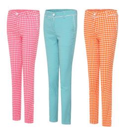dame pantalons de golf pantalon grille femmes d'été sport printemps tissu haut de golf de fille vêtements match pantalon de survêtement de marque respirant treillis en Solde